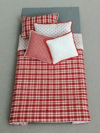 S-353 Red/White Plaid & Dot