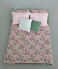 D-143 Pink & Green Floral Print