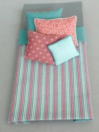 S-348 Aqua & Rose Stripe