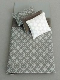S-310 Grey & White Geometric Print