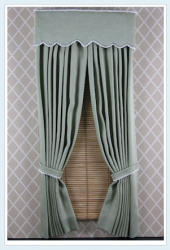 "Cornice Style ""C"" with Tie Back Drapery"