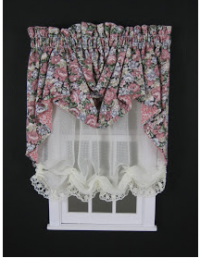 Gathered Swag Valance & Sheer Balloon Shade