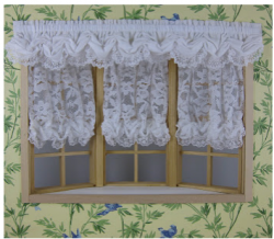 Bay window Balloon Shades and Valance