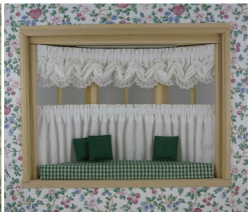Bay Window Balloon Valance - Tier Curtain