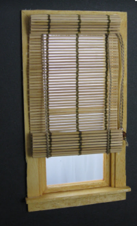 Bamboo Roll Up Shade - Window