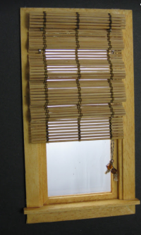 Bamboo Roman Shade - Window