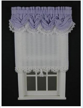 Balloon Valance - White Plisse shade